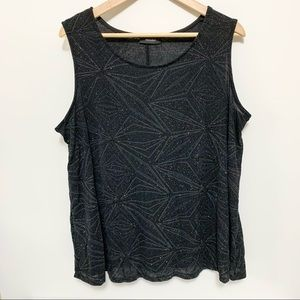 Mandee Black Sparkly Sleeveless Top